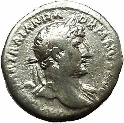 Hadrian Bisexual Emperor 121AD Silver Ancient Roman Coin Fortuna Cult  i39698