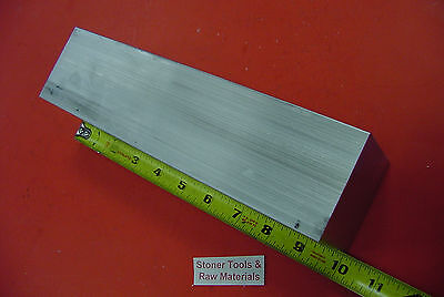"2-1/4"" X 2-1/4"" ALUMINUM SQUARE 6061 SOLID BAR 10"" long T6511 Mill Stock 2.25"
