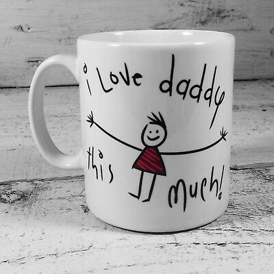 I Love Daddy This Much Cup Mug Gift Present Fathers Day Birthday Dad Christmas