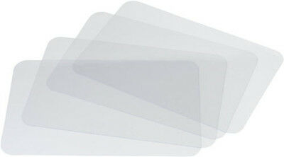Set TWO 2 CLEAR PLACEMATS See-Through Plastic Place Mats Table Cloth Protector