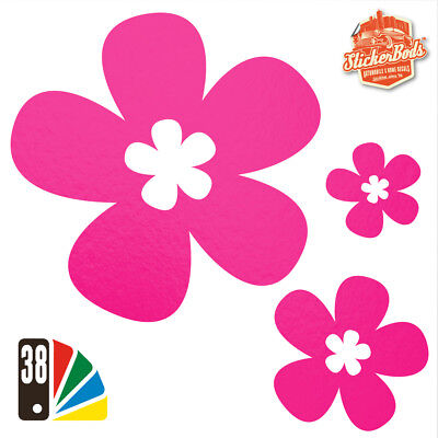 25 DAISY FLOWER STICKERS DECALS for Car | Wall | Home - 38 Colours (S4)