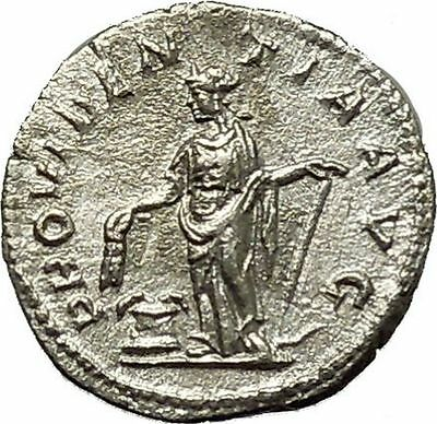 SEVERUS ALEXANDER Ancient Silver Roman Coin ANNONA  Cult Anchor Hope  i39694