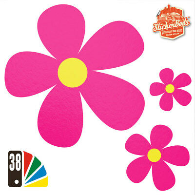 25 DAISY FLOWER STICKERS DECALS for Car | Wall | Home - 38 Colours (S6)