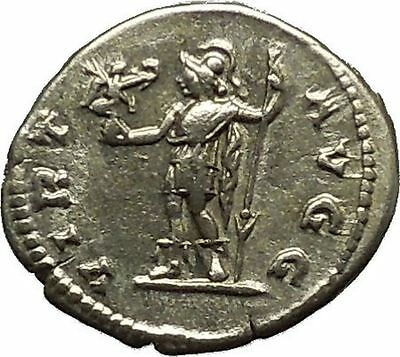 CARACALLA 200AD Silver Authentic Ancient Roman Coin Virtus Courage  Cult i39821