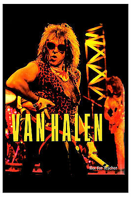 David Lee Roth  * Hot For Teacher * Van Halen Promotional Poster 1985