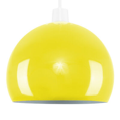 Retro Style Gloss Yellow Metal Ceiling Pendant Light Lamp Shade Lampshade Lights