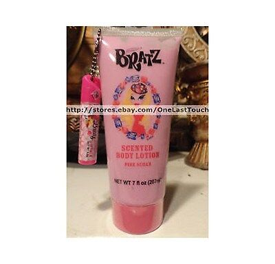BRATZ 2pc 7 oz Body Lotion+Lip Balm Keychain PINK SUGAR Scented/Flavored NEW!