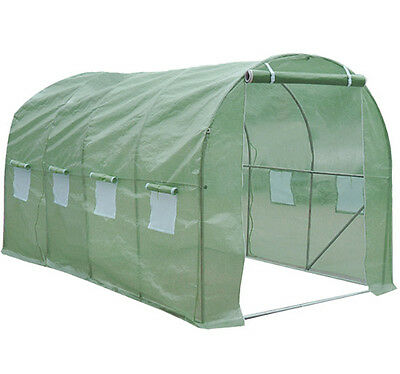 15'x7'x7' Larger Walk In Greenhouse Hot Tunnel Plant Green House Garden Outdoor