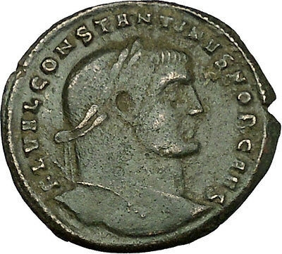 Constantine I The Great as Caesar 306AD RARE Ancient Roman Coin Genius  i39874