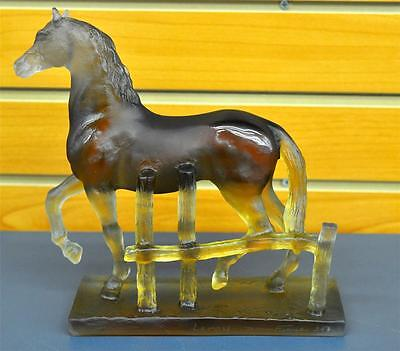 Daum Trotteur Ourasi Horse Signed Numbered Crystal Glass Figurine MSRP $2600