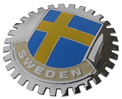 Swedish flag grille badge - Sweden for your Volvo or Saab