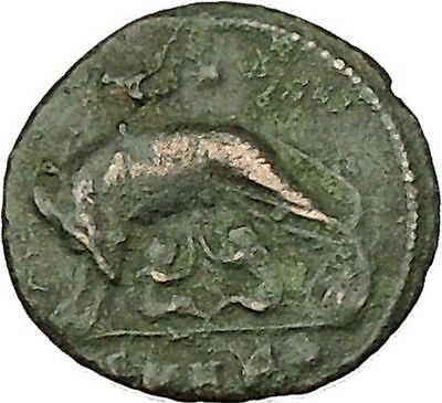 """Constantine I The Great Ancient Roman Coin Romulus & Remus """"Mother"""" wolf  i39886"""
