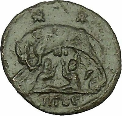 "Constantine I The Great Ancient Roman Coin Romulus & Remus ""Mother"" wolf  i39891"
