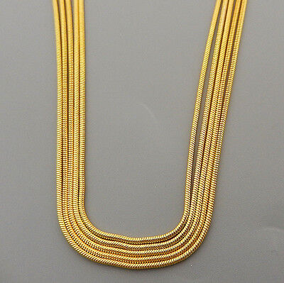 """Wholesale Bulk 5/10/20/50Pcs Yellow Gold Plated 1mm Snake Chain Necklace 16""""-24"""""""