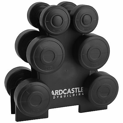 12Kg Dumbbell Weights Set & Stand/rack Home Gym/exercise/workout Weight Lifting