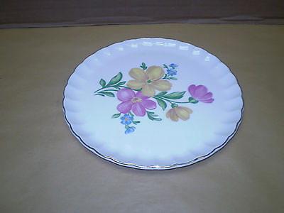 "W.S. George 9 1/4"" Plate with flowers Estate find"