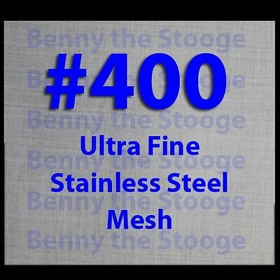 """(3 Pack) 4"""" x 4"""" - Ultra Fine #400 Stainless Steel Mesh Wick, Atomoizer, ATTY"""