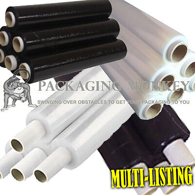 Rolls Of Pallet Stretch Shrink Wrap Film Black & Clear ALL SIZES / QTY'S *CHEAP*