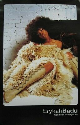 ERYKAH BADU 2003 worldwide underground promotional poster ~MINT condition~!