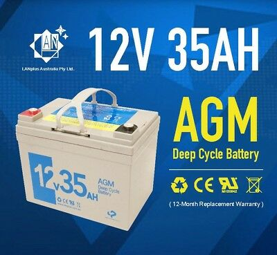 NEW 12V 35AH AGM DEEP CYCLE Battery For Mobility SCOOTER GOLF CART BUGGY   33AH