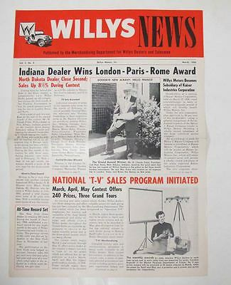 March 1956 Willys Jeep News Factory Magazine Brochure wu1790