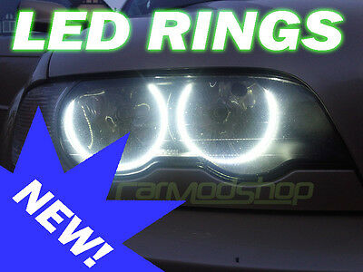 BMW 7 Series E38 Projector LED Angel Eye Kit Halo Rings Lighting Replacement