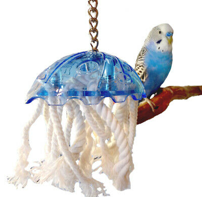 0042 JELLYFISH SMALL BIRD TOY cage toys bulletproof plstc cockatiel parrot Lucky