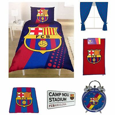 Barcelona Bedding Bedroom Accessories Boys Football - Blanket, Duvet Cover Sets