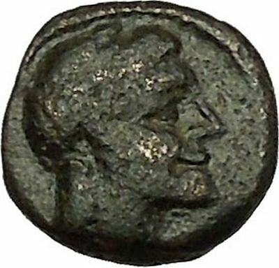 SYRACUSE SICILY 214BC Apollo & Sacrificial Tripod Rare Ancient Greek Coin i39792