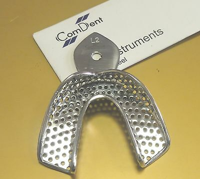 1 x Dental Impression Tray,Upper Large Size, Perforated St Steel * CE New*