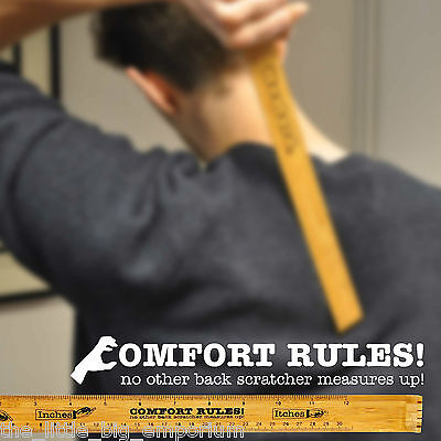 Comfort Rules! Eco Friendly Bamboo Ruler and Back Scratcher