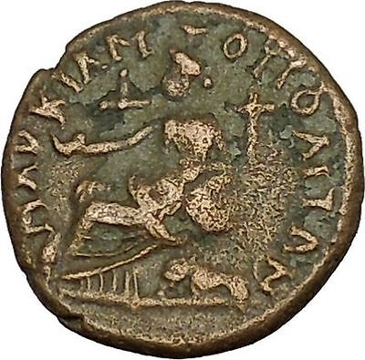 SEPTIMIUS SEVERUS 193AD Marcianopolis Cybele Lion Ancient Roman Coin i39807