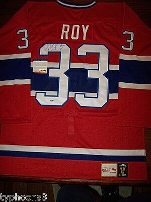 PATRICK ROY (Montreal Canadiens, Avalanche) signed jersey w/ PSA COA