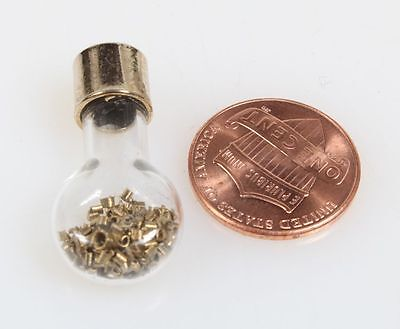 Mini Light Bulb Filled W/brass Shavings, Collectible