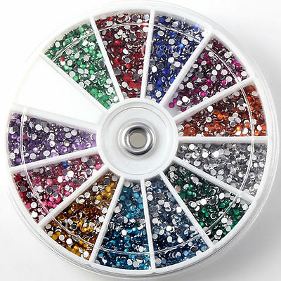 1.5mm 3600pcs Nail Art 3D DIY Rhinestones Decoration For UV Gel Acrylic Tips