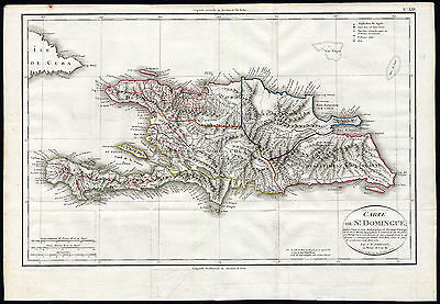 Rare Antique Map-SANTO DOMINGO-Jean Baptiste Poirson-Tardieu-1803