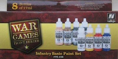 VALLEJO PAINT SET VAL70156 Model Color Set - WWII Wargames - Infantry Basic set