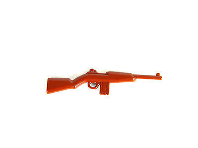 M1 Carbine (W118) Full Stock WW2 Rifle Compatible with toy brick minifigures