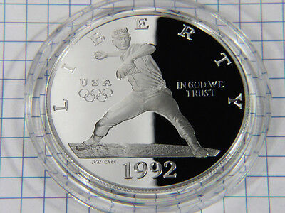 Nice 1992 Olympics Commemorative Silver Dollar Gem Proof STK# RO40