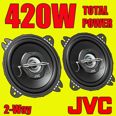JVC 420W TOTAL 4 INCH 10cm 2-WAY CAR/VAN DOOR/SHELF COAXIAL SPEAKERS NEW PAIR