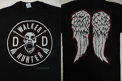 The Walking Dead TWD Walker Hunter Daryl Dixon Faux Patch And Wings T-Shirt
