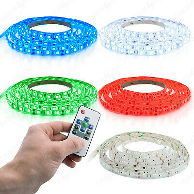 1m 4m 7m 8m 10m LED RGB Strip Streifen Band RGB funk Ferbedineung Komp. set