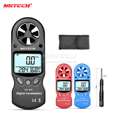 Digital Anemometer Wind Speed Meter Humidity Temperature Gauge Thermometer NK-W0