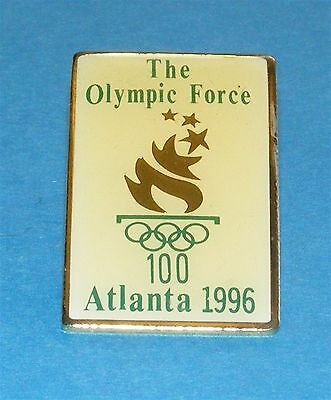 ATLANTA 1996 Olympic Collectible Logo Pin - The Olympic Force with Torch