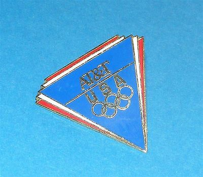 ATLANTA 1996 Olympic Collectible Sponsor Pin - AT&T Triangle Red, White & Blue