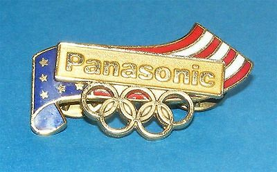 ATLANTA 1996 Olympic Collectible Sponsor Pin - Paanasonic USA Flag