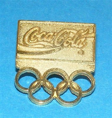 ATLANTA 1996 Olympic Collectible Sponsor Pin - Coca-Cola Gold Olympic Rings