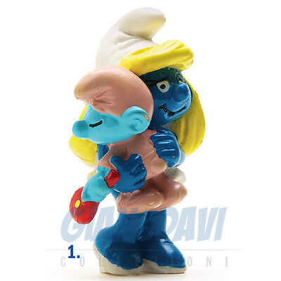 PUFFO PUFFI SMURF SMURFS SCHTROUMPF 2.0192 20192 Smurfette with Baby Puffetta 1A