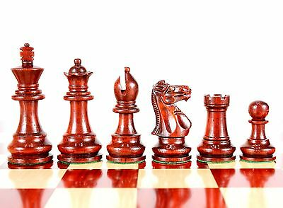 Bud Rose Wood Monarch Staunton Wooden Chess Set Pieces King Size 3""