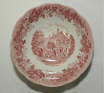 J&G MEAKIN Ironstone Romantic England RED SERVING BOWL/other pieces available